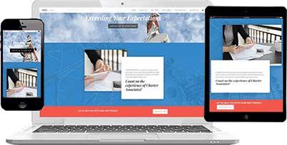 m carter digital website design client charter associates