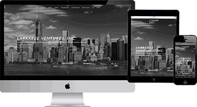 m carter digital website design client larrabee ventures